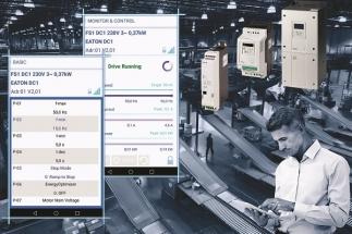 Mobilní parametrizace frekvenčních měničů s novou aplikací Eaton drivesConnect App