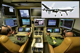 Bezpilotní bojový letoun Reaper a jeho pozemní řídicí kabina