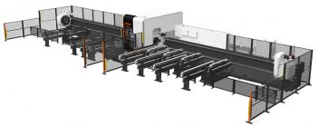 Systém 3D FABRI GEAR III 4KW dokáže řezat konstrukční materiály velkých rozměrů, jako jsou trubky až do délky 8 000 mm, nebo s volitelným příslušenstvím až do 15 000 mm.
