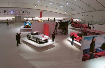 Předměty expozice jsou automobily dokonalé technicky i designově. Obě složky, budova i technické objekty, vytvářejí ideální celek.