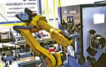 Obr. 6: Robotizované pracoviště dvou revolverových soustruhů, návrh a realizace PROFIKA