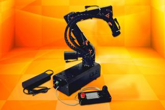 Vše uvnitř a velmi malé: v nové verzi robolinku je veškerá elektronika součástí robotického ramene, které tak funguje bez rozvaděče a počítače. (Zdroj: igus/HENNLICH)