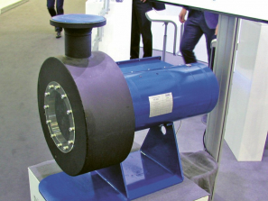 Radiální turbína s generátorem ORC technologie firmy Dürr