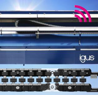 Nové bezúdržbové kluzné pouzdro ve spojení se senzorem měřícím opotřebení zajistí dlouhou životnost u rolnových řetězů P4.1 pro jeřábové systémy (Zdroj: igus/HENNLICH)