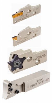 Systém MODUGRIP je reprezentován nožovým držákem NMAHR se třemi typy adaptérů pro destičky systémů DO-GRIP, TAN G-GRIP, PENTACUT