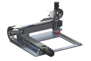 Tříosý Gantry systém HIWIN z kompaktních modulů KK