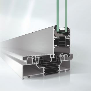 Posuvný systém  Schüco ASE 80 s odtokovou drážkou