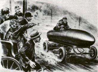 """""""Doutníkový"""" elektromobil Belgičana Camille Jenatzyho jako první auto světa prorazil magickou rychlostní hranici 100 km/h už v roce 1899"""