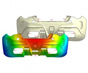 Obr. 1: Nový řešič simulace plnění Quick Flow umožňuje rychlé ověření a optimalizaci pozic vtokových ústí a vzniklých studených spojů zejména u rozměrných dílů