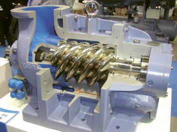 Šroubový chladivový kompresor firmy GEA