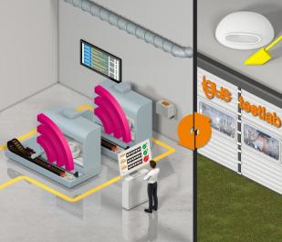Čtyři druhy isense systémů zvyšují spolehlivost provozu díky prediktivní údržbě. S isense online údržbáři těží z velkého množství dat nasbíraného v laboratoři igus.
