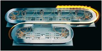 ACOPOStrak dosahuje zrychlení 5 g a nejvyšší rychlosti přesahující 4 metry za sekundu