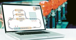 Systémový software mappTrak je mistrovské řešení matematických úloh, jež umožňuje ovládat rozhodující funkce systému ACO POStrak