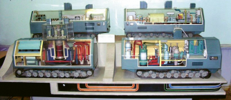 Průřez reaktorovým vozidlem TTP-3