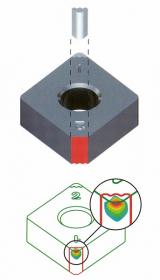 Obr. 5: Tungaloy Wavy Joint – spojení CBN elementu s karbidovou destičkou