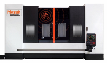 Vysoce všestranný stroj VTC-800/30SR společnosti Yamazaki Mazak se systémem SmoothX CNC je obráběcím centrem s vertikálním posuvným stojanem se schopností plně 5osého tvarového obrábění.