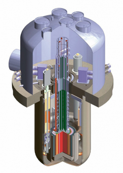Schéma navrhovaného reaktoru s postupnou vlnou společnosti TerraPower /Foto: TerraPower/