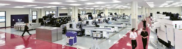 Výrobní hala závodu v Miskinu