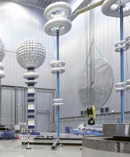 Zkušebna společnosti ABB, ve které se testovala velká část vybavení pro linku 1 100 kV ze Sin-ťiangu /Foto: ABB/