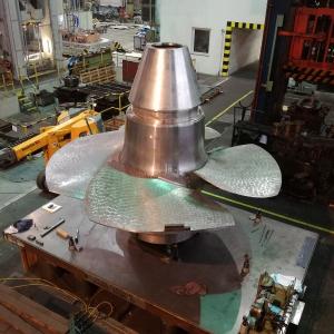 ŽĎAS vyrobil oběžné kolo Kaplanovy turbíny pro vodní elektrárnu Kamýk