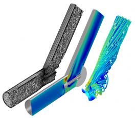Rychlostní a tlakové pole při řešení optimalizace vodní pumpy