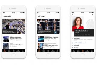 Nová aplikace německého Bundestagu je dostupná pro platformy iOS i Android od 5. března 2019.