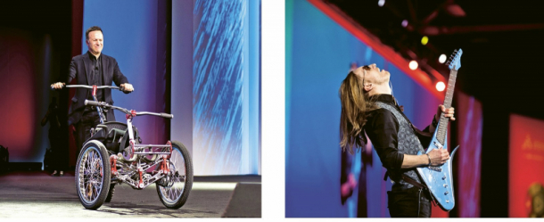 Prvním symbolem letošního setkání se stal elektrický invalidní vozík pro pohyb v terénu ICON; symbol toho, že se lidé a technologie potkávají, aby změnili svět. Druhým pak designová kytara od LAVA DROPS INSTRUMENTS symbolizující propojení dvou živých organismů - stromu/dřeva a člověka.