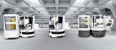 """Portfolio strojů s konceptem """"two-in-one"""" společnosti WALTER pro erodování a broušení: zleva doprava HELITRONIC VISION DIAMOND 400 L, HELITRONIC POWER DIAMOND 400, HELITRONIC DIAMOND EVOLUTION"""