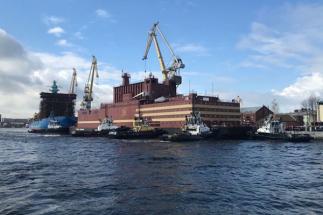 Plovoucí jaderný reaktor Akademik Lomonosov /Zdroj: Rosatom/