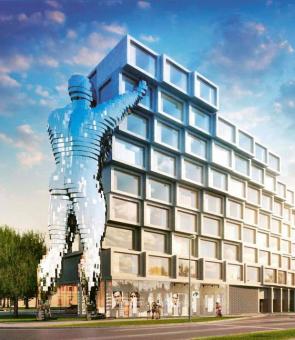 Nová Invalidovna – rezidenční domy v přípravě (vizualizace studia Qarta architektura)