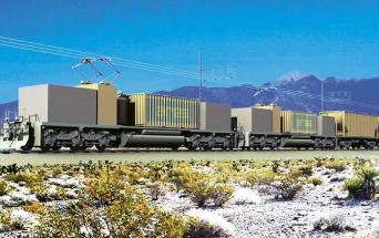 """Testování """"železničního úložiště"""" ARES v Mohavské poušti"""
