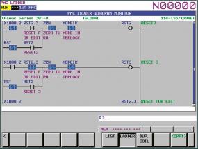 PLC program na systému FANUC – aplikace výrobce stroje