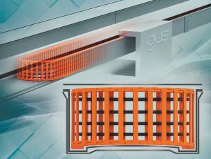 """""""Plane-chain"""": Nový, spolehlivý systém energetických řetězů se speciálně tvarovaným žlabem je vhodný pro použití v automatizaci a aplikace s vysokými rychlostmi.  (Zdroj: igus/HENNLICH)"""