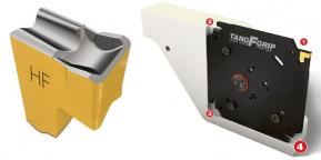 Pohled na systém TAN G-F-Grip s jednostrannou tangenciálně upnutou destičkou