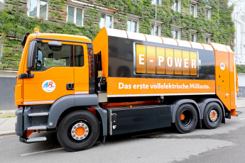 Elektrické popelářské auto /Foto: Christian Fürthner/