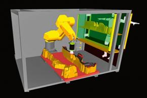 Příklad simulace dostupnosti obráběného místa