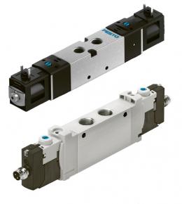 """Obr. 6: Robustní ventily VUVS a kompaktní ventily VUVG ve verzích """"S"""" představují výkonné výrobky za nízkou cenu"""