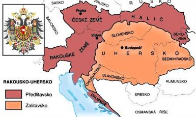 Mapa Rakouska-Uherska