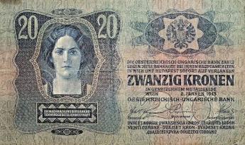 Dvacetikorunová bankovka Rakousko-Uherska