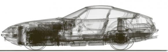 CT snímek vozu Ferrari