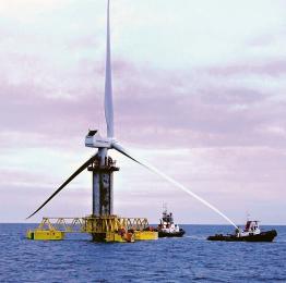 Zakotvení po vodě přepravené teleskopicky výsuvné větrné elektrárny v areálu PLOCA N