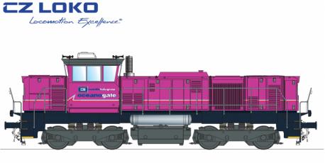 Barevné řešení lokomotivy řady 741.7 pro Oceanogate