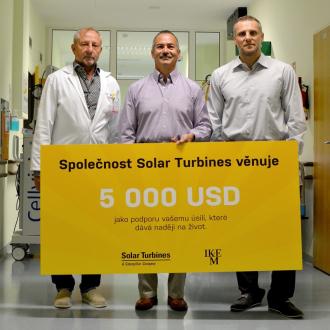 Částkou 5000 USD se rozhodla podpořit Institut Klinické a Experimentální Medicíny (IKEM) mezinárodní společnost Solar Turbines. Předání proběhlo v IKEMu 15. července za přítomnosti General Managera žatecké pobočky Seana McLoughlina. Částka bude použita na výzkum a rozvoj pracoviště.