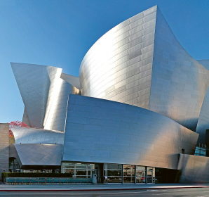 Walt Disney Concert Hall patří charakteristickým rysům Los Angeles