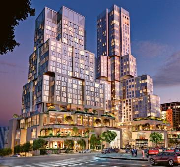 Projekt rezidenčního areálu z ateliéru Franka Gehryho