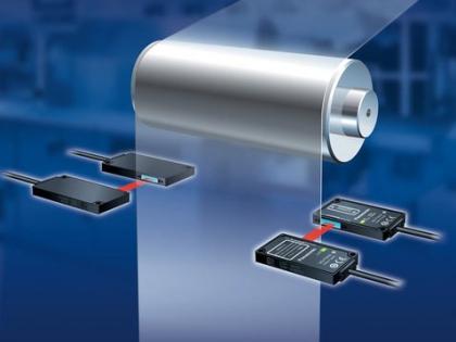 Laserový pás umožňuje vysoce přesné sledování širší oblasti - například v tiskařském průmyslu.