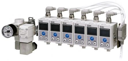 Blok snímačů řady ISA3-L s regulátorem a 2/2 ventilem