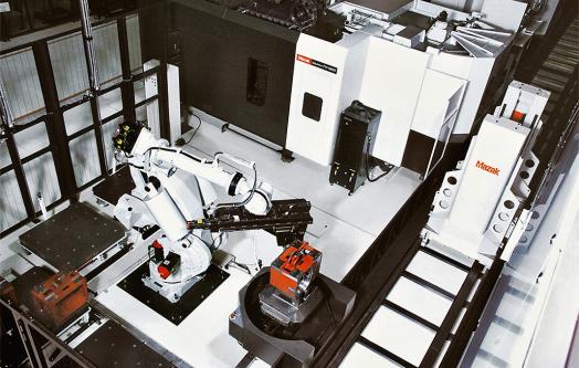 Obr. 2: Robotizovaná buňka Mazak e-BOT