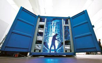 Větší demonstrační systém E-Cat, který podle Itala Andrey Rossiho měl ukázat možnosti studené fúze. Jeho fungování ovšem nikdo nezávislý nikdy neověřil /Foto: Massimo Brega, ecat.com/