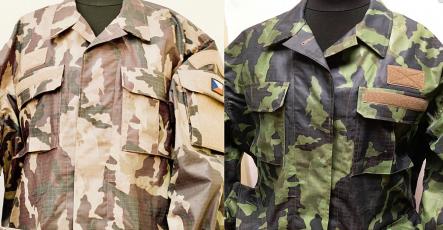 Lesní a pouštní maskování v jedné uniformě